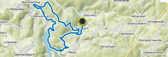 Routenverlauf Fjord